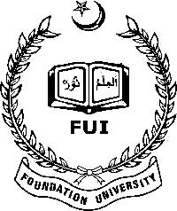 Foundation University Admission Fall 2018