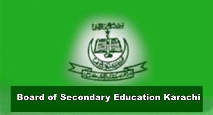 Karachi Board SSC Annual Exams 2021 Extended Schedule